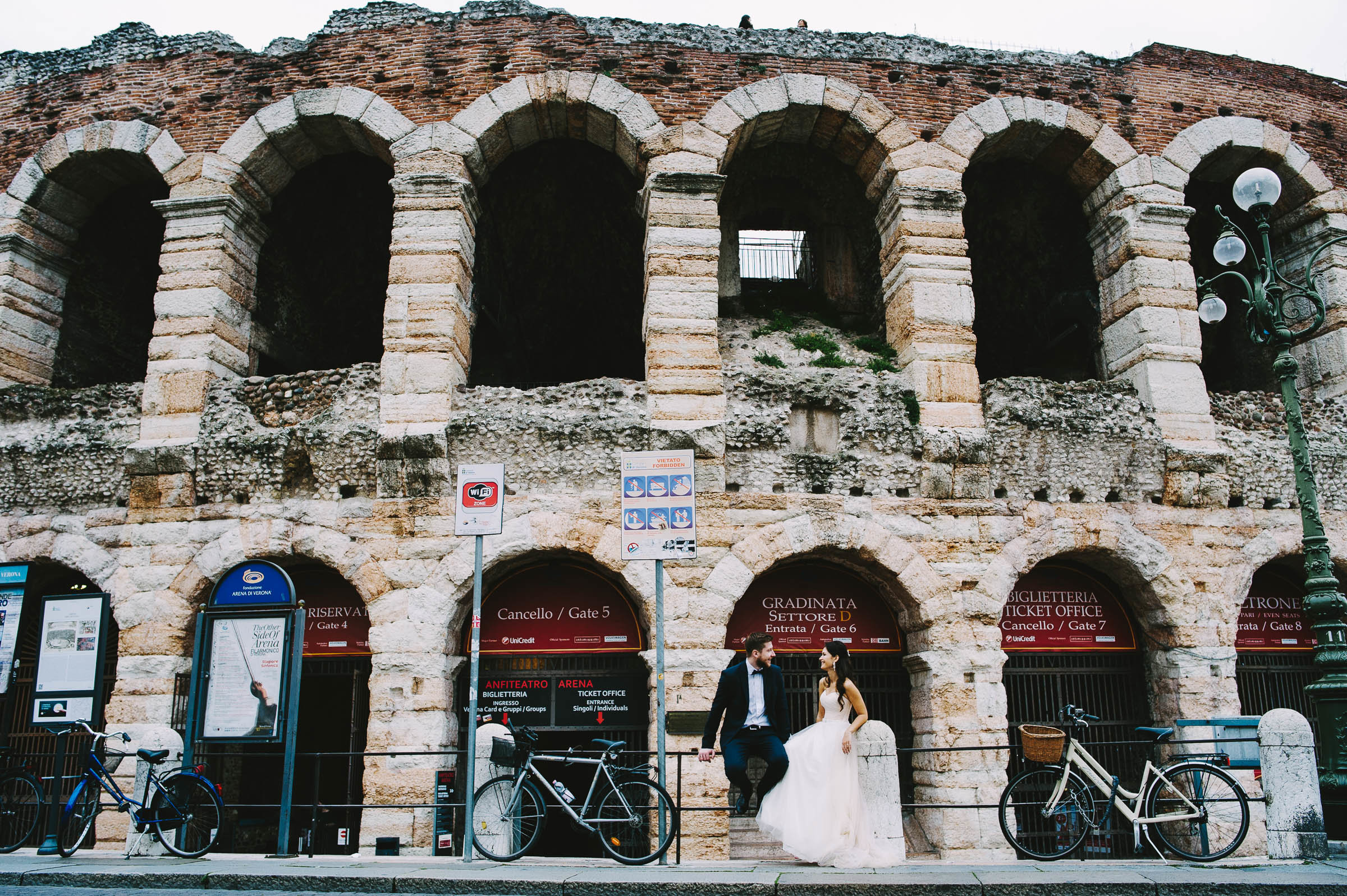 After wedding photo shoot in Verona for Kate and Alex