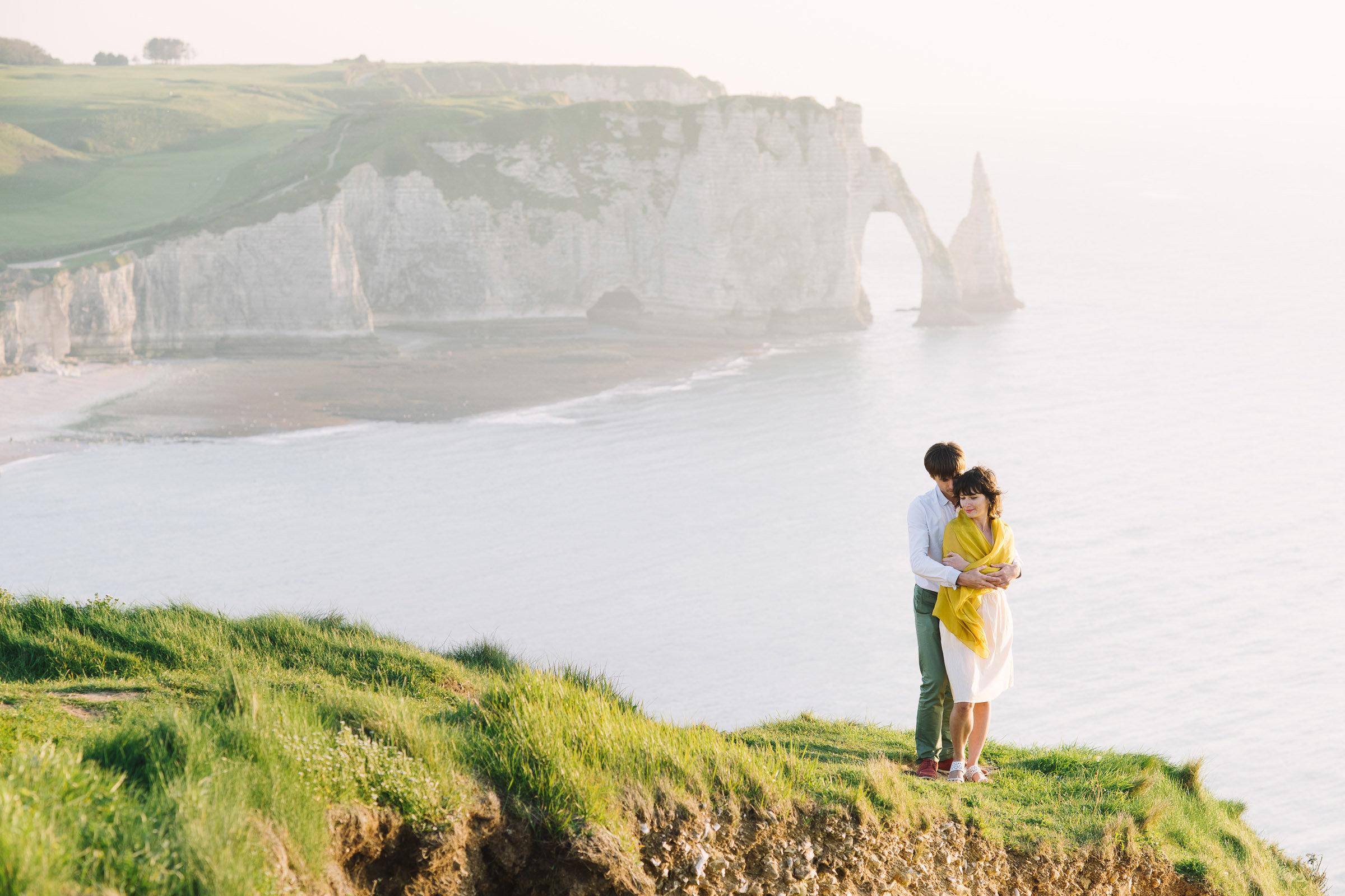 Love story in Étretat  for my friend Anna and Max