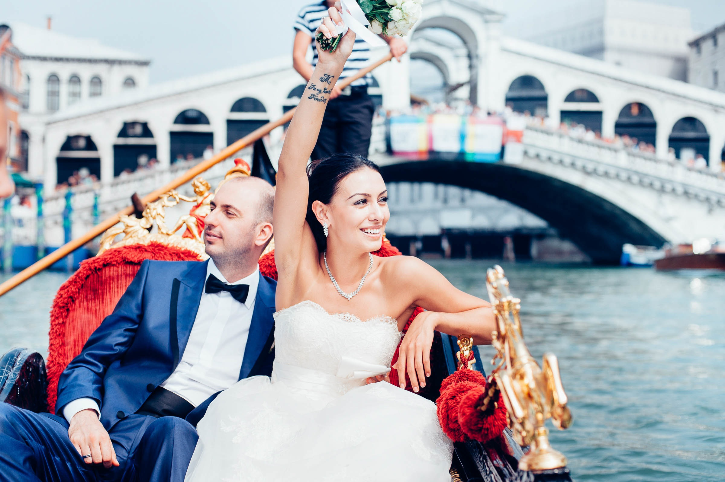 just married in venice