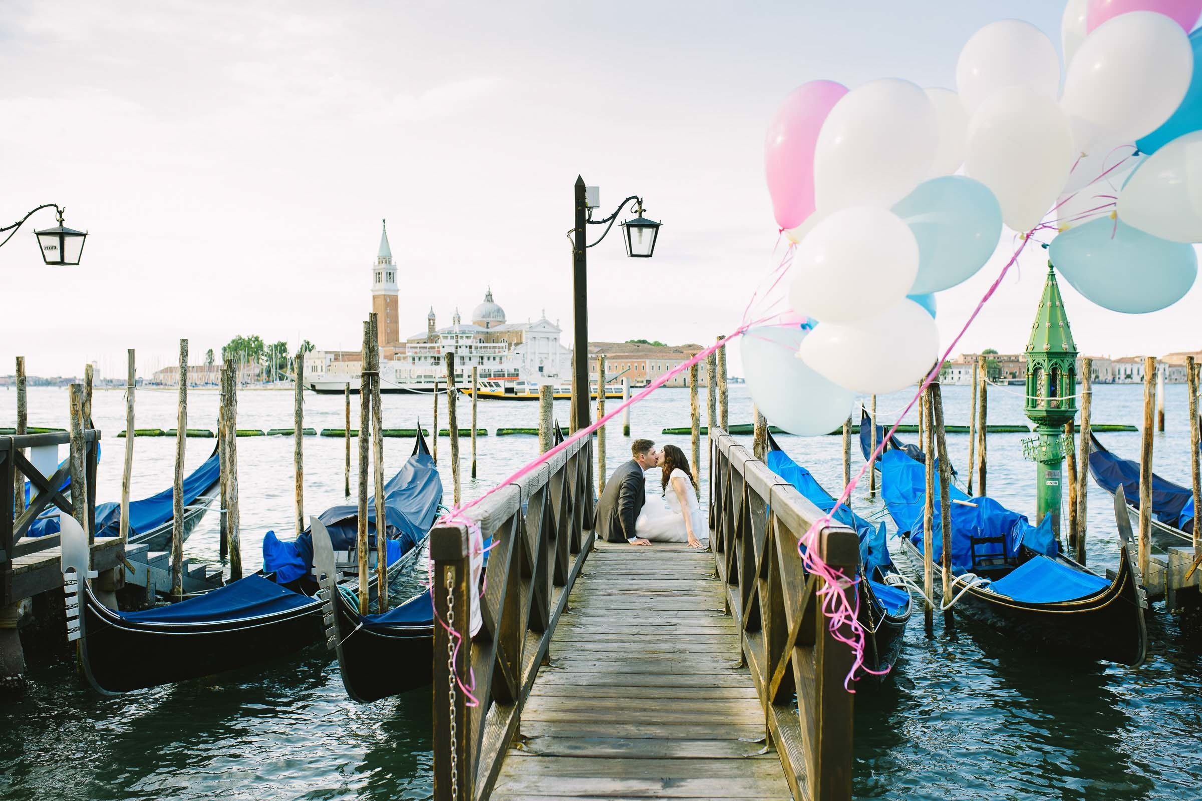wedding ceremony at marina of San Marco
