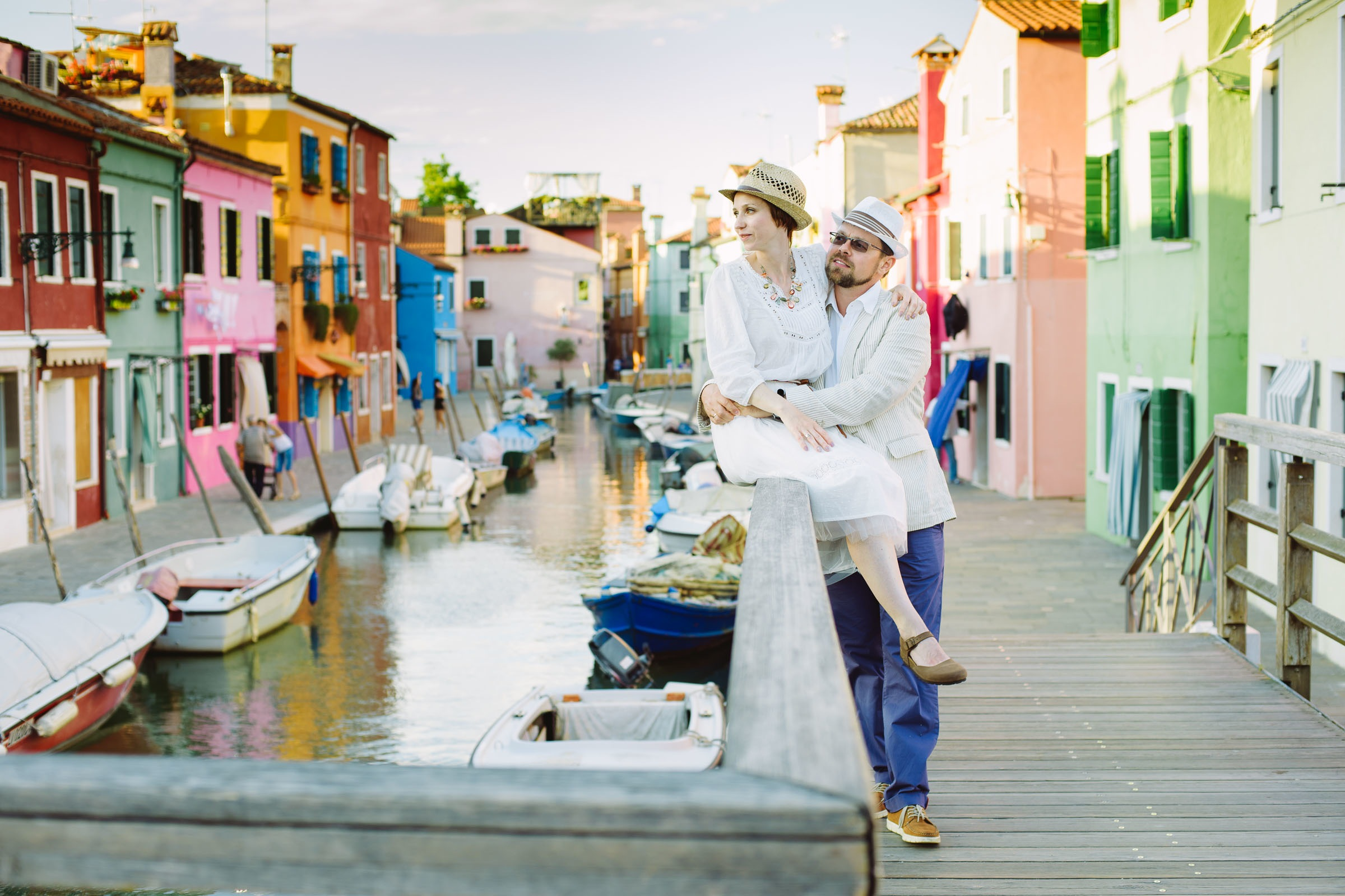 love story on Burano Island