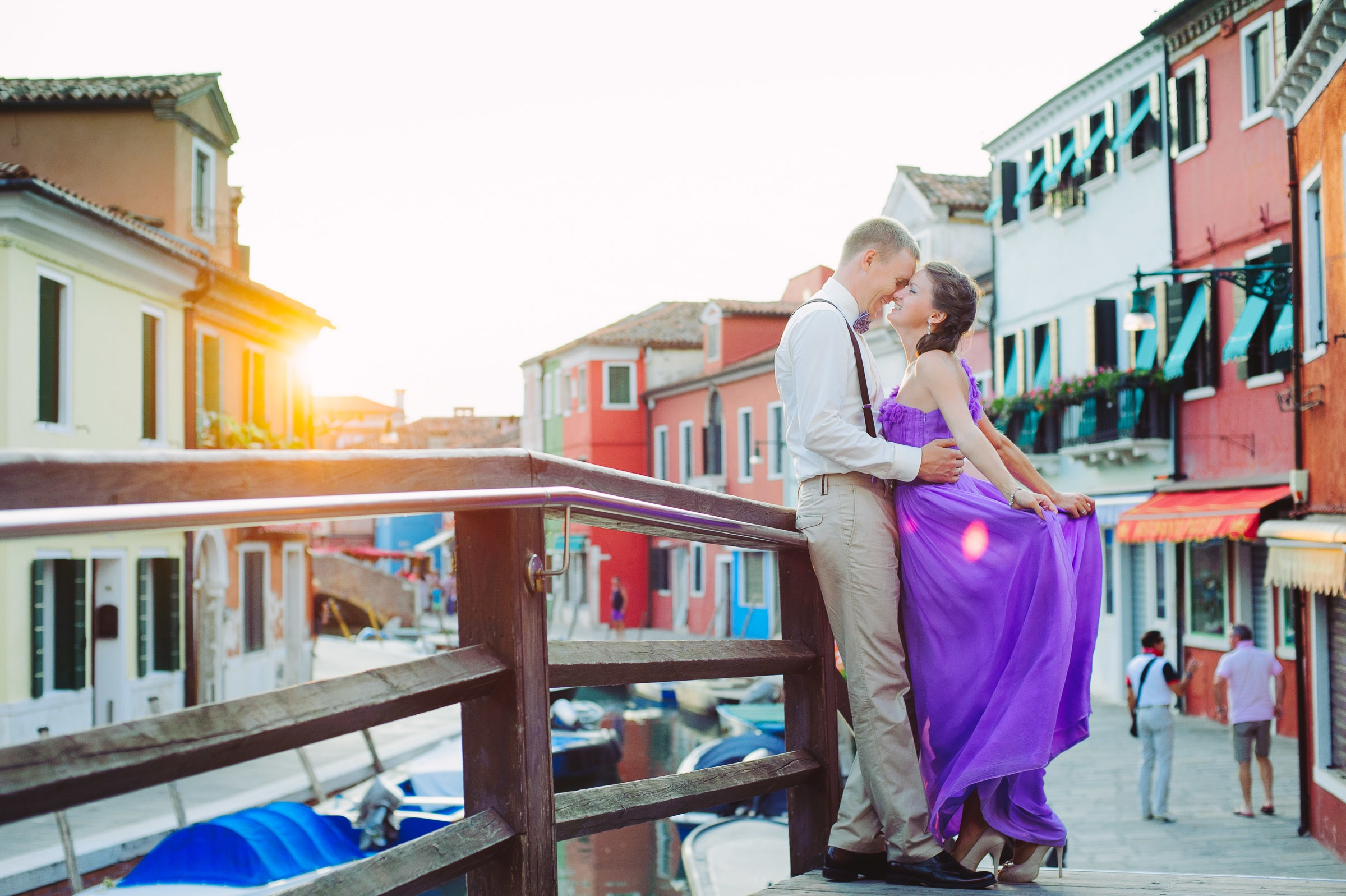 honeymoon couple on Burano