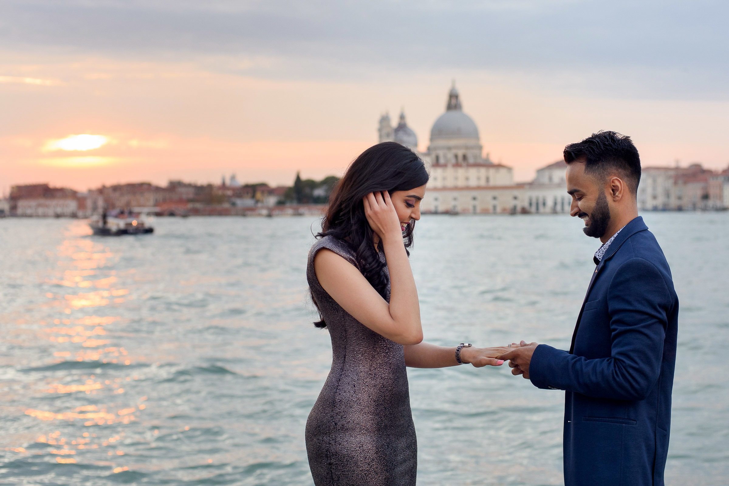 sunset proposal in Venice